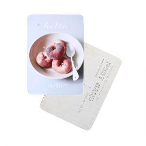 carte postale hello peach DIVERSPEA